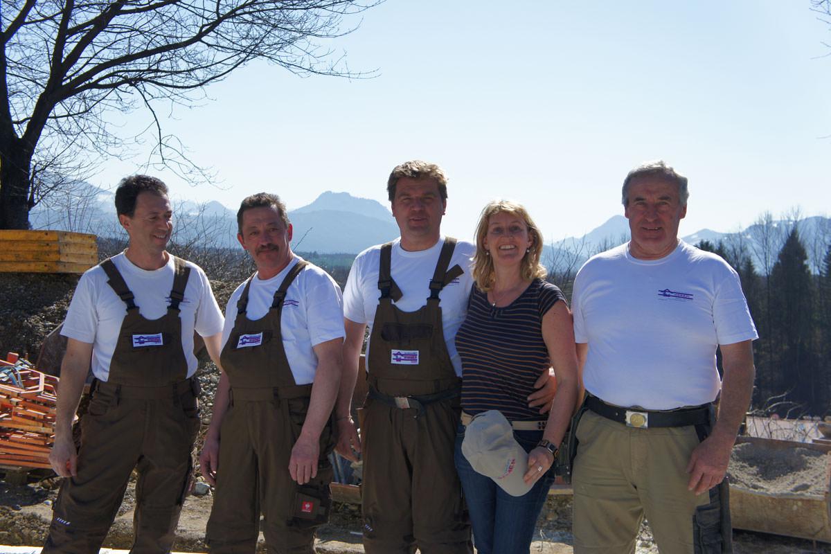 Unser Team vom Baugeschäft Wimmer am Samerberg