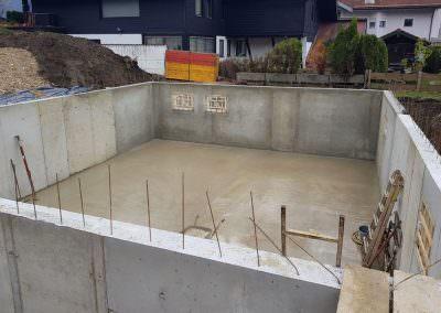 Fundamente und Kellerbau