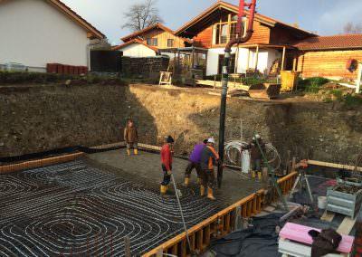 Fußbodenheizung für geschliffenen Betonboden