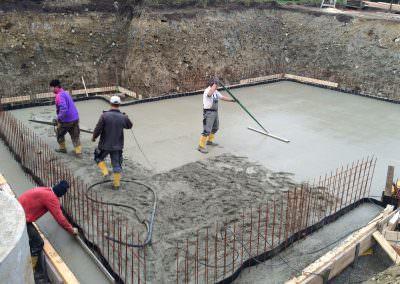Vorbereitung für geschliffenen Betonboden
